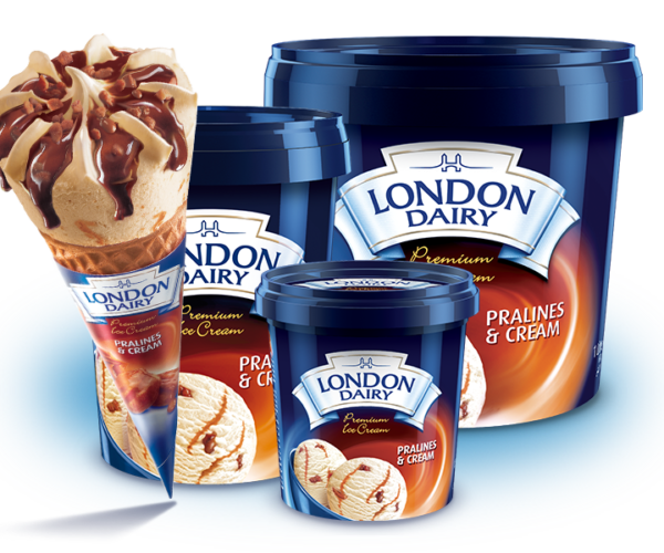 The finest range of ingredients and an enticing range of flavours to drool over is all that you could get and more at London Dairy Premium Ice Cream! We are proud distributors of them!